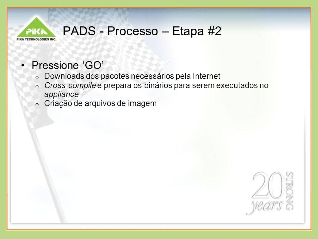 PADS - Processo – Etapa #2