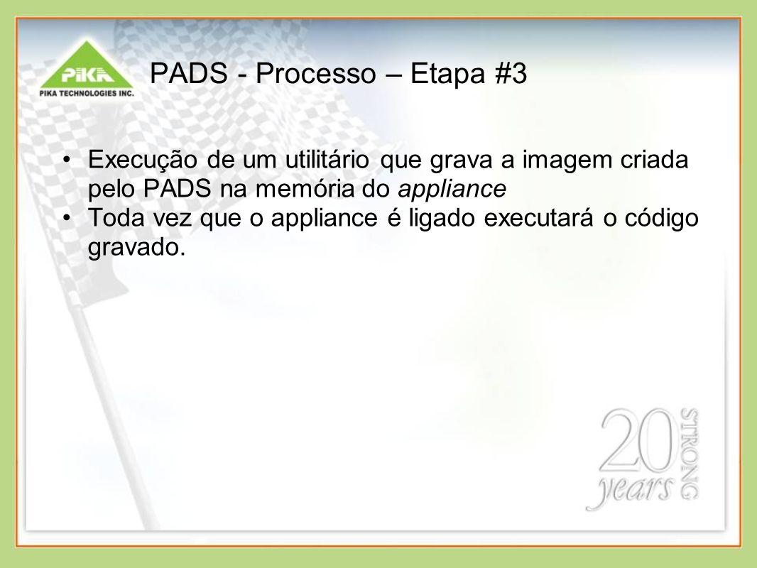 PADS - Processo – Etapa #3