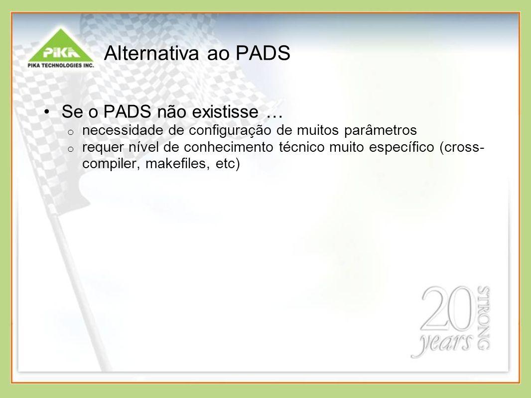 Alternativa ao PADS Se o PADS não existisse …