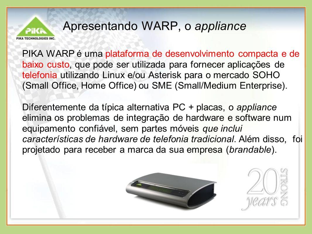 Apresentando WARP, o appliance