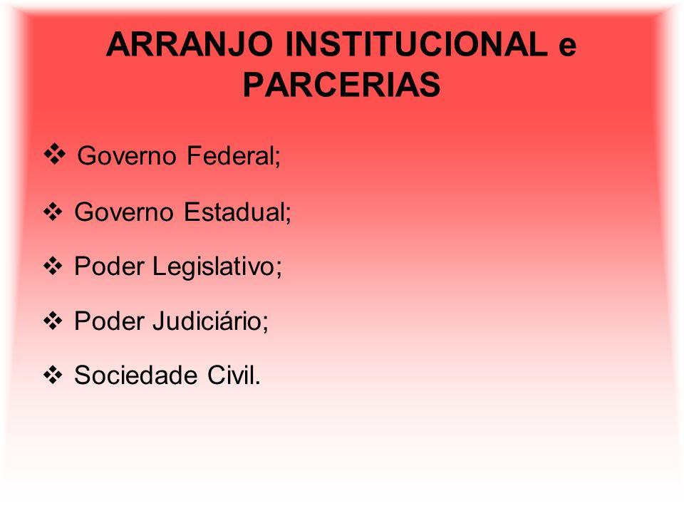 ARRANJO INSTITUCIONAL e PARCERIAS