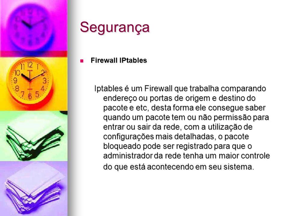 Segurança Firewall IPtables.