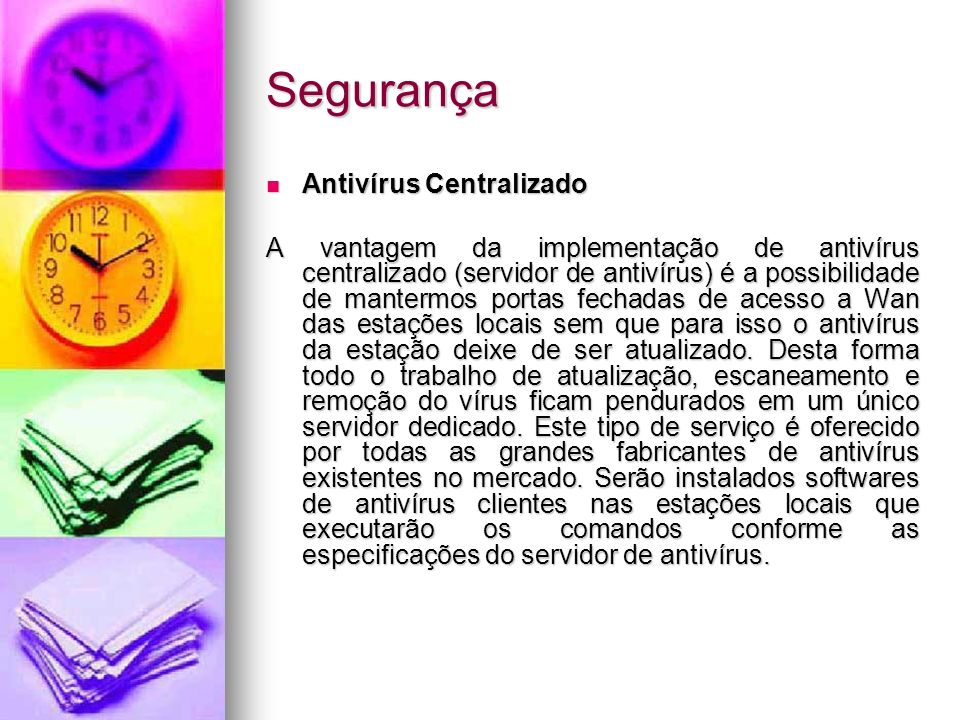 Segurança Antivírus Centralizado