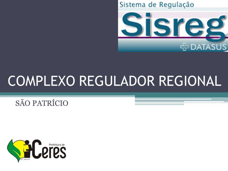 COMPLEXO REGULADOR REGIONAL