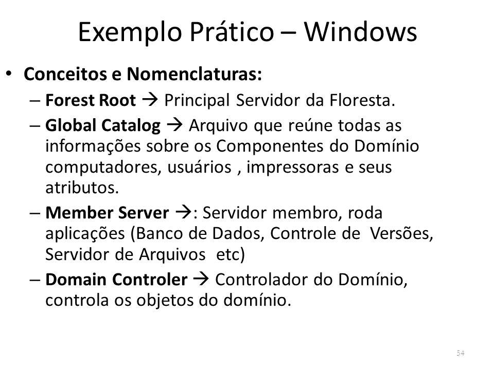 Exemplo Prático – Windows