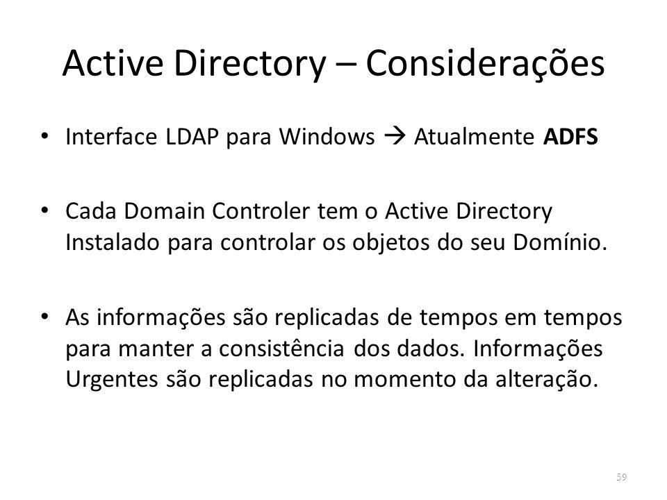 Active Directory – Considerações