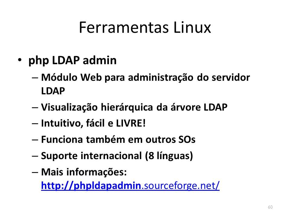 Ferramentas Linux php LDAP admin