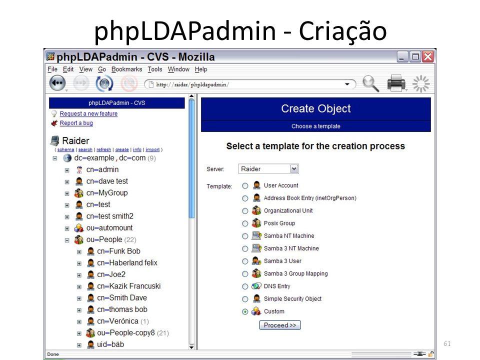 phpLDAPadmin - Criação