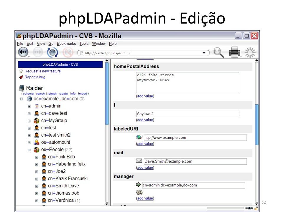 phpLDAPadmin - Edição