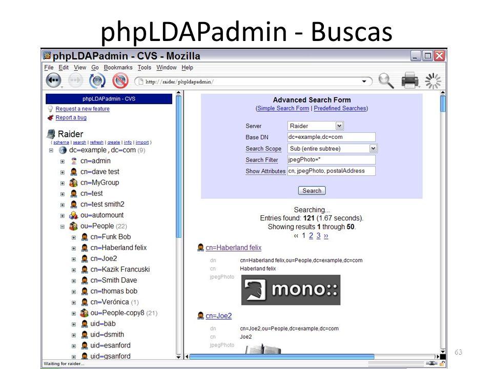 phpLDAPadmin - Buscas