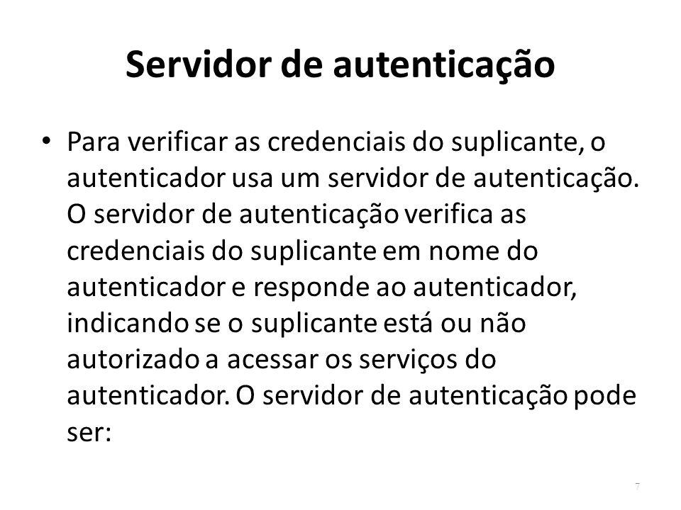Servidor de autenticação