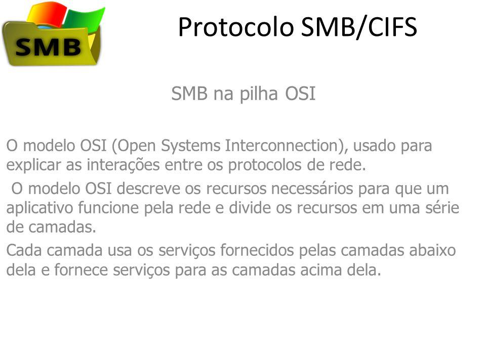 Protocolo SMB/CIFS SMB na pilha OSI