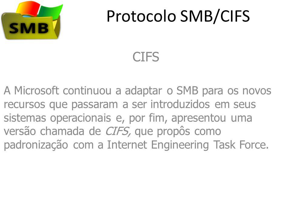 Protocolo SMB/CIFS CIFS