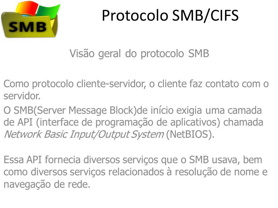 Visão geral do protocolo SMB