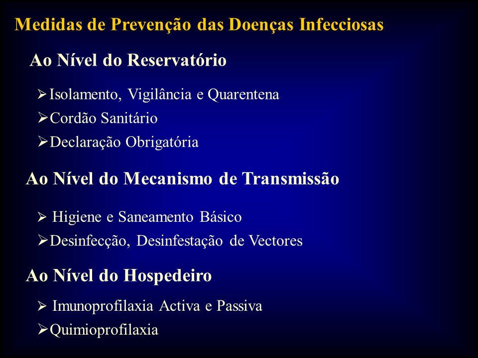 Medidas de Prevenção das Doenças Infecciosas