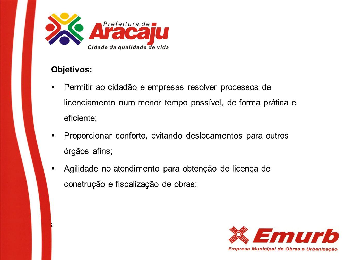 Objetivos: Permitir ao cidadão e empresas resolver processos de licenciamento num menor tempo possível, de forma prática e eficiente;