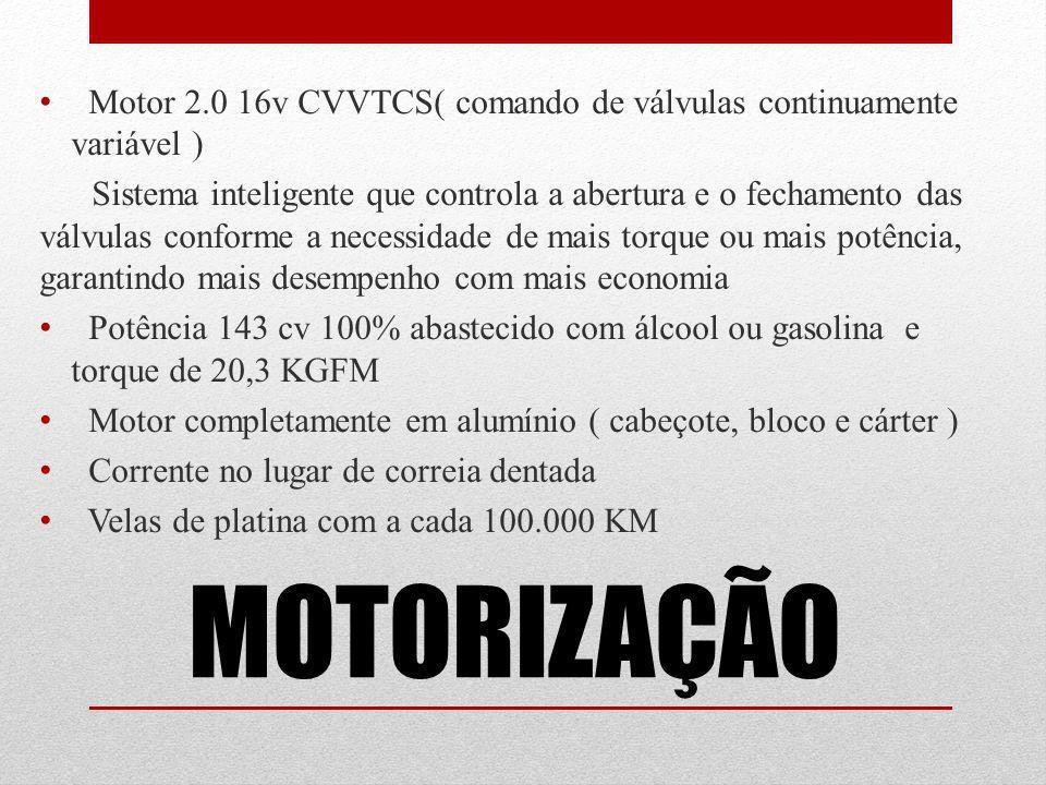 Motor 2.0 16v CVVTCS( comando de válvulas continuamente variável )