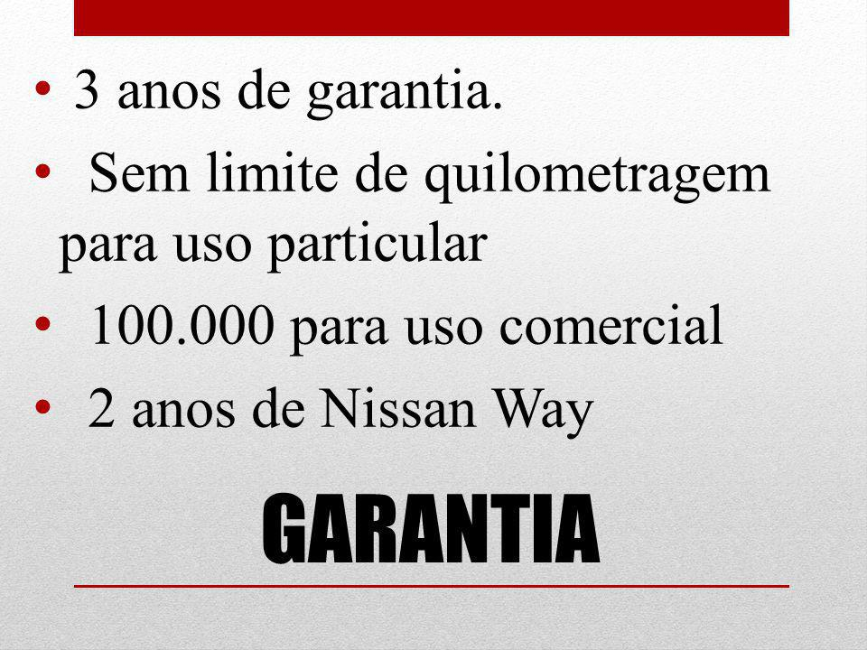GARANTIA 3 anos de garantia.