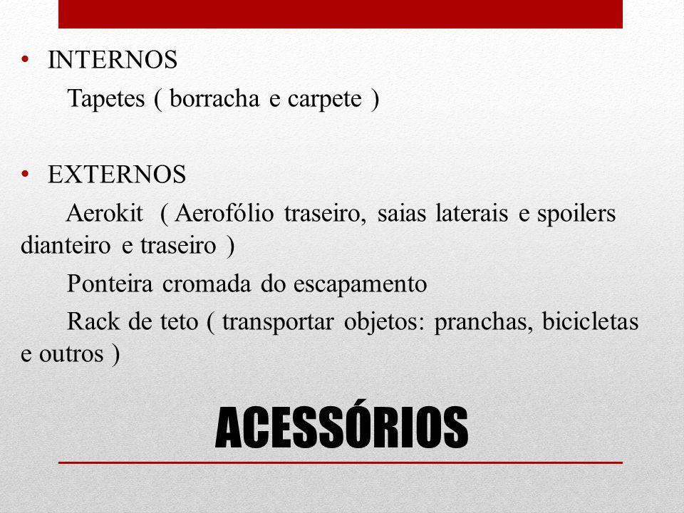 ACESSÓRIOS INTERNOS Tapetes ( borracha e carpete ) EXTERNOS
