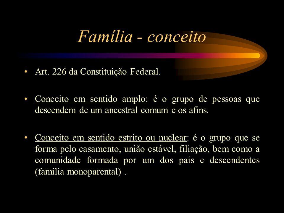 Família - conceito Art. 226 da Constituição Federal.