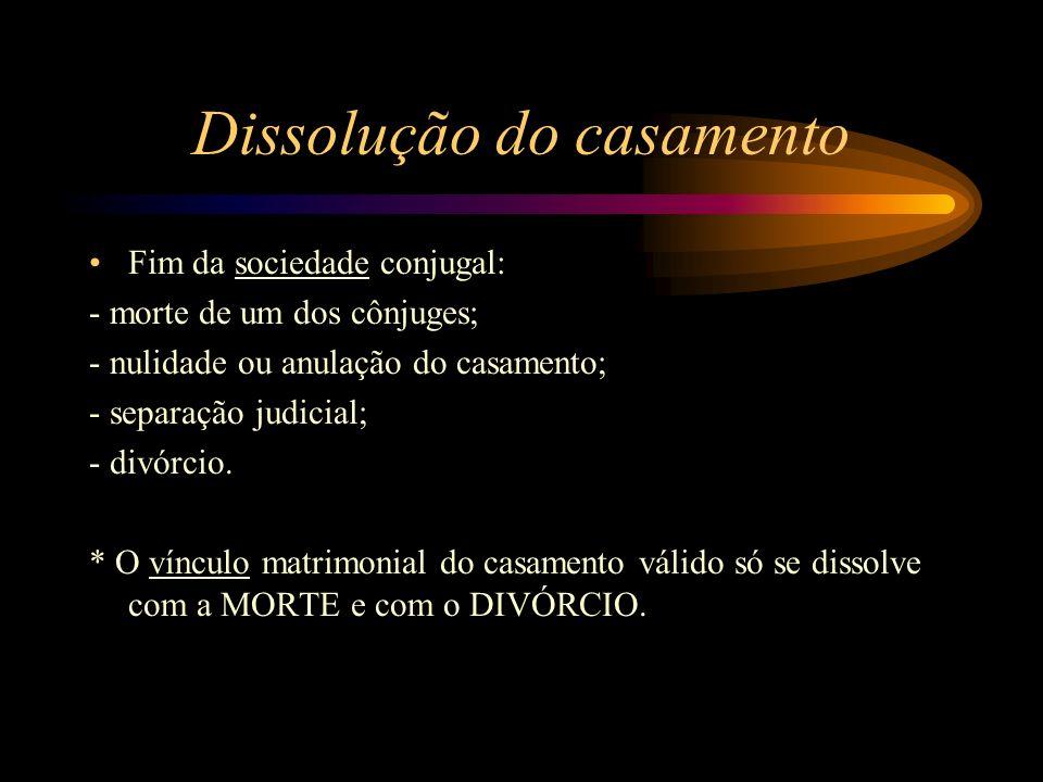 Dissolução do casamento