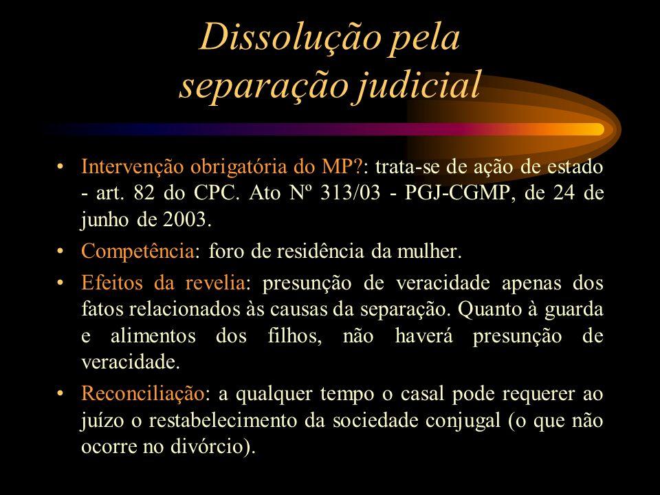 Dissolução pela separação judicial