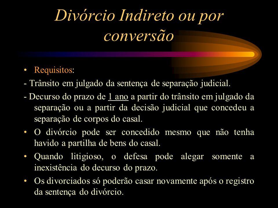 Divórcio Indireto ou por conversão