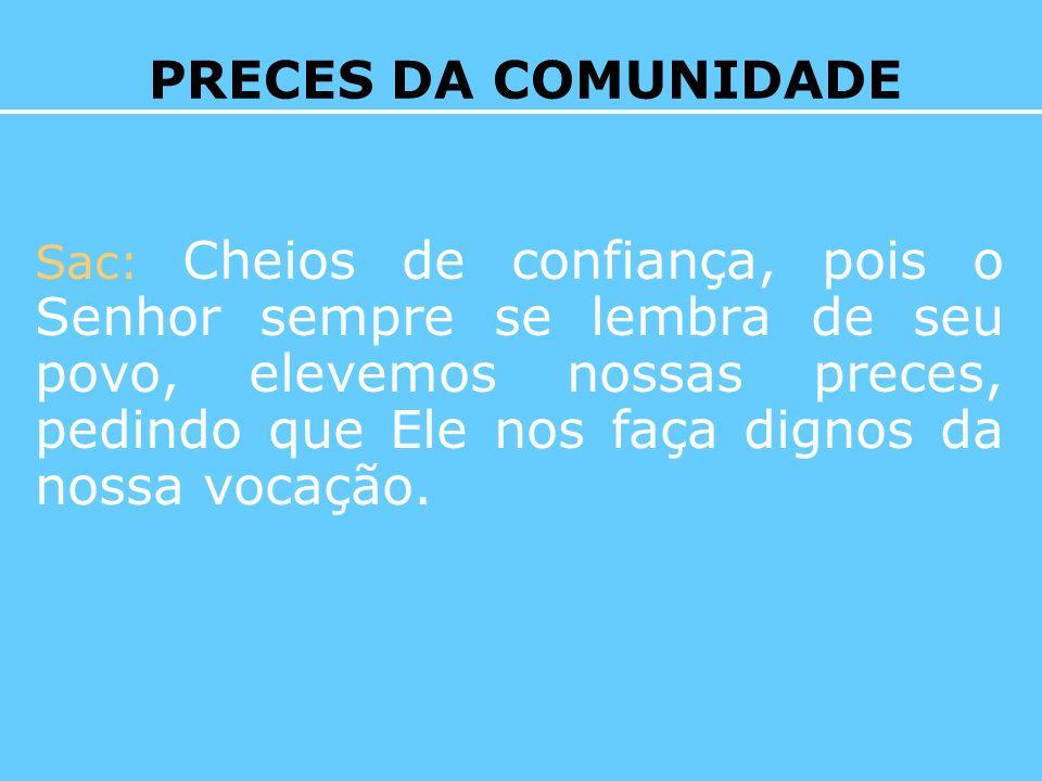PRECES DA COMUNIDADE