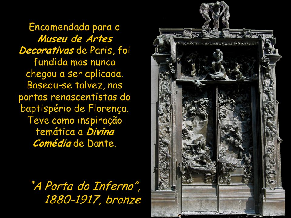 A Porta do Inferno , 1880-1917, bronze