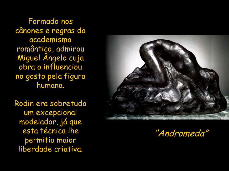 Formado nos cânones e regras do academismo romântico, admirou Miguel Ângelo cuja obra o influenciou no gosto pela figura humana.
