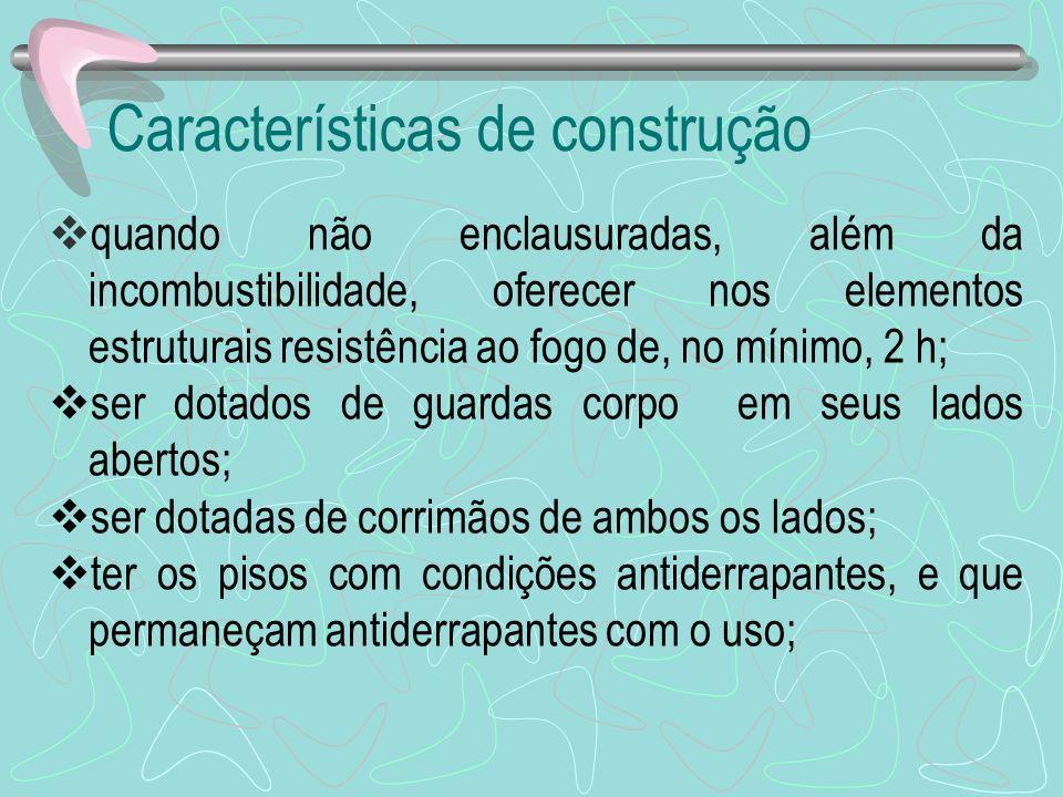 Características de construção
