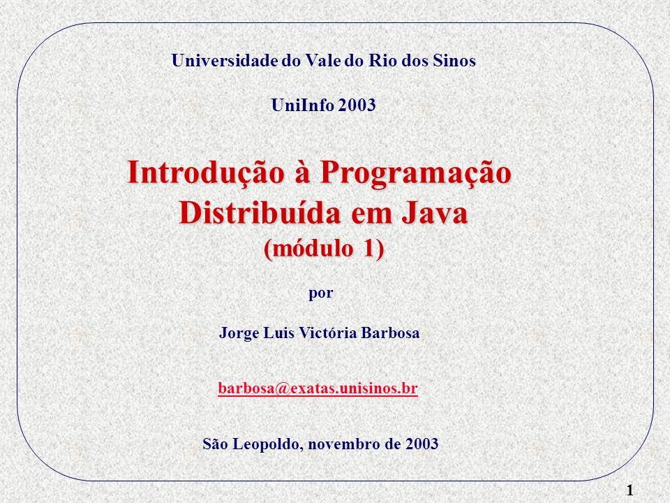 Introdução à Programação Distribuída em Java