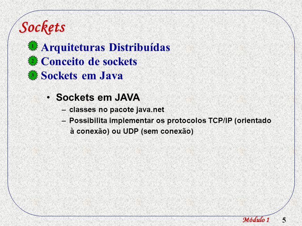 Sockets Arquiteturas Distribuídas Conceito de sockets Sockets em Java