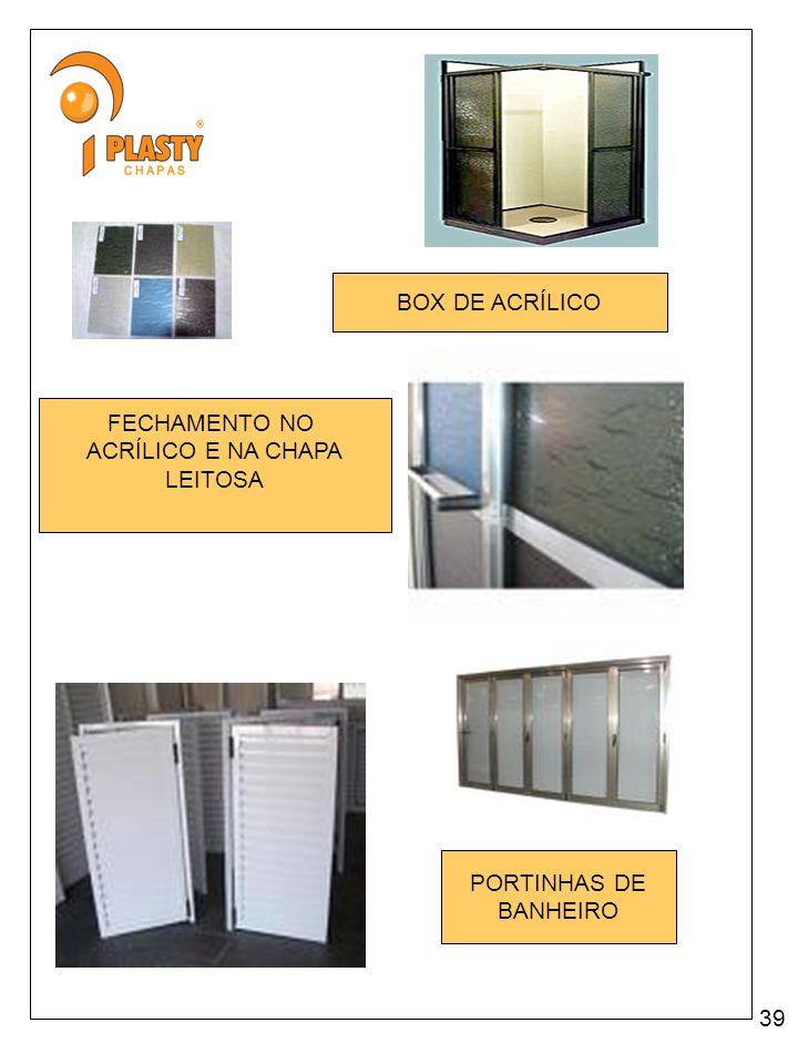 BOX DE ACRÍLICO FECHAMENTO NO ACRÍLICO E NA CHAPA LEITOSA PORTINHAS DE BANHEIRO 39