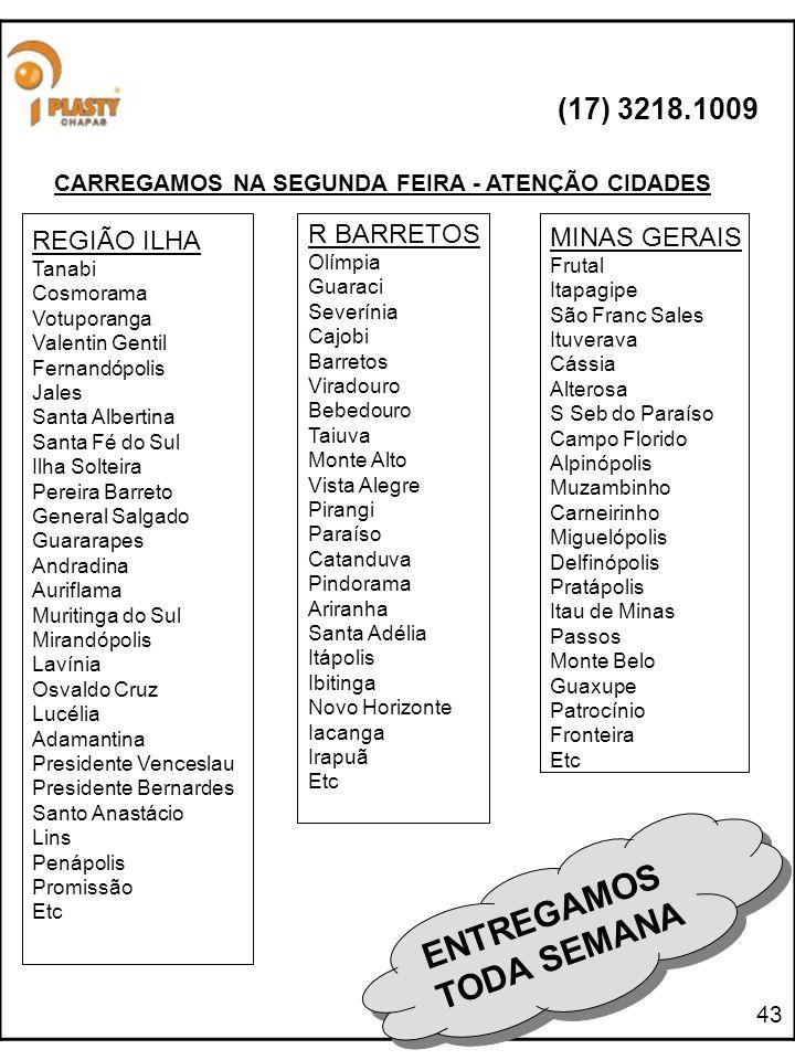 CARREGAMOS NA SEGUNDA FEIRA - ATENÇÃO CIDADES
