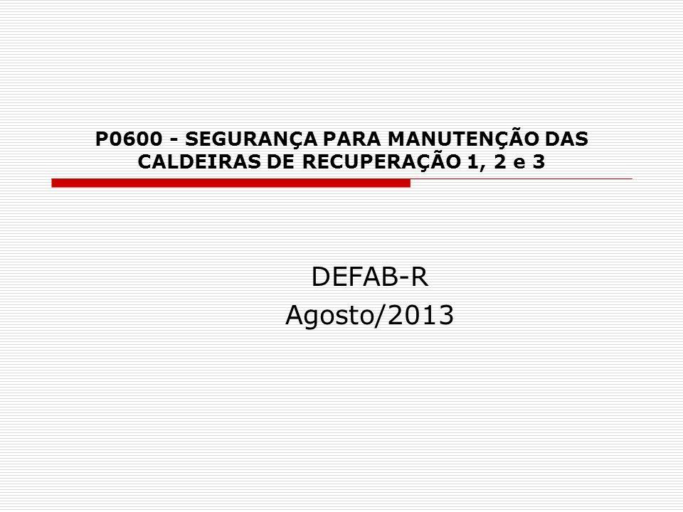 P0600 - SEGURANÇA PARA MANUTENÇÃO DAS CALDEIRAS DE RECUPERAÇÃO 1, 2 e 3