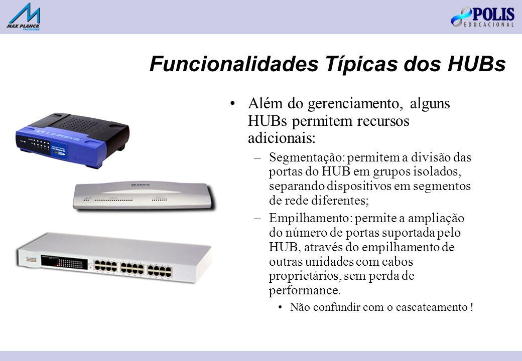 Funcionalidades Típicas dos HUBs