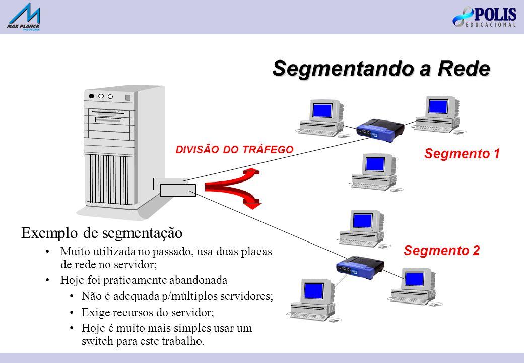 Segmentando a Rede Exemplo de segmentação Segmento 1 Segmento 2