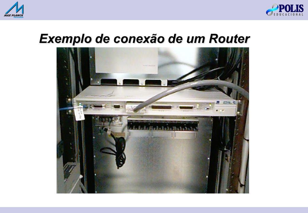 Exemplo de conexão de um Router