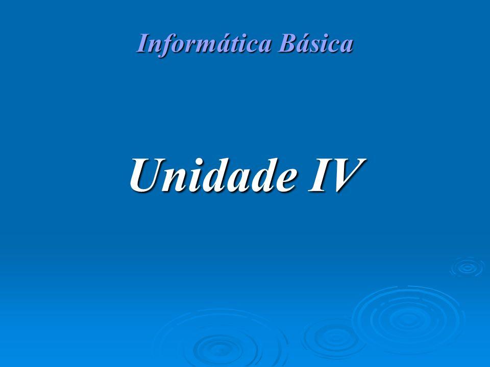 Informática Básica Unidade IV