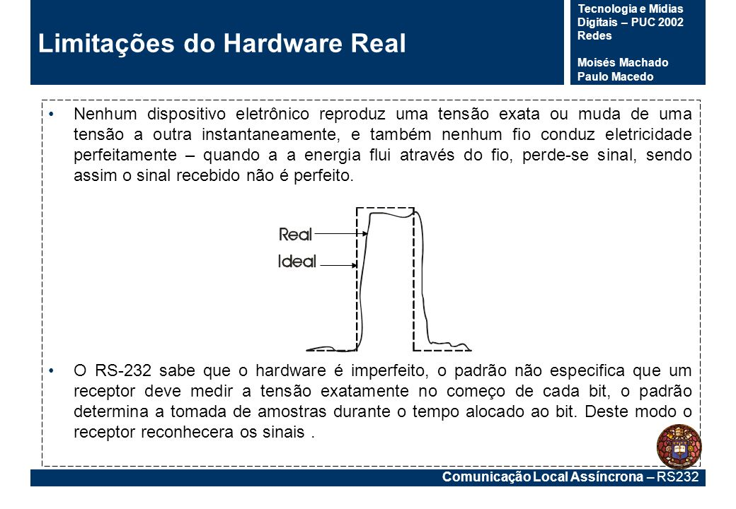 Limitações do Hardware Real