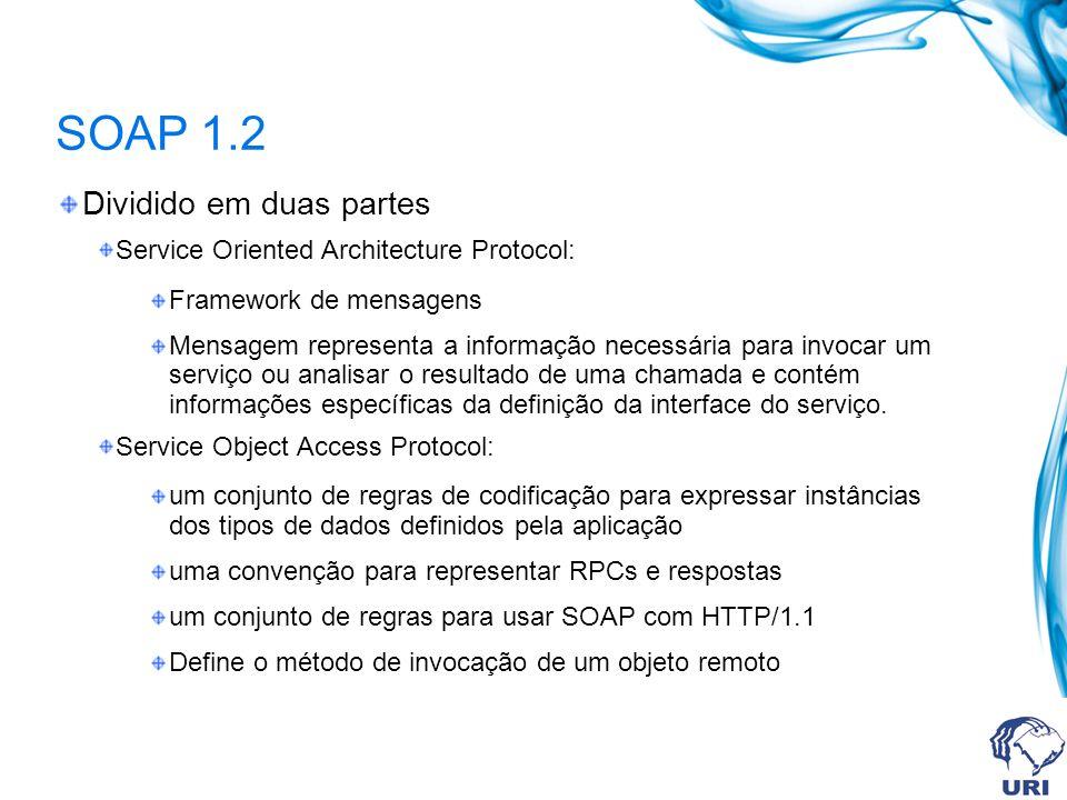 SOAP 1.2 Dividido em duas partes