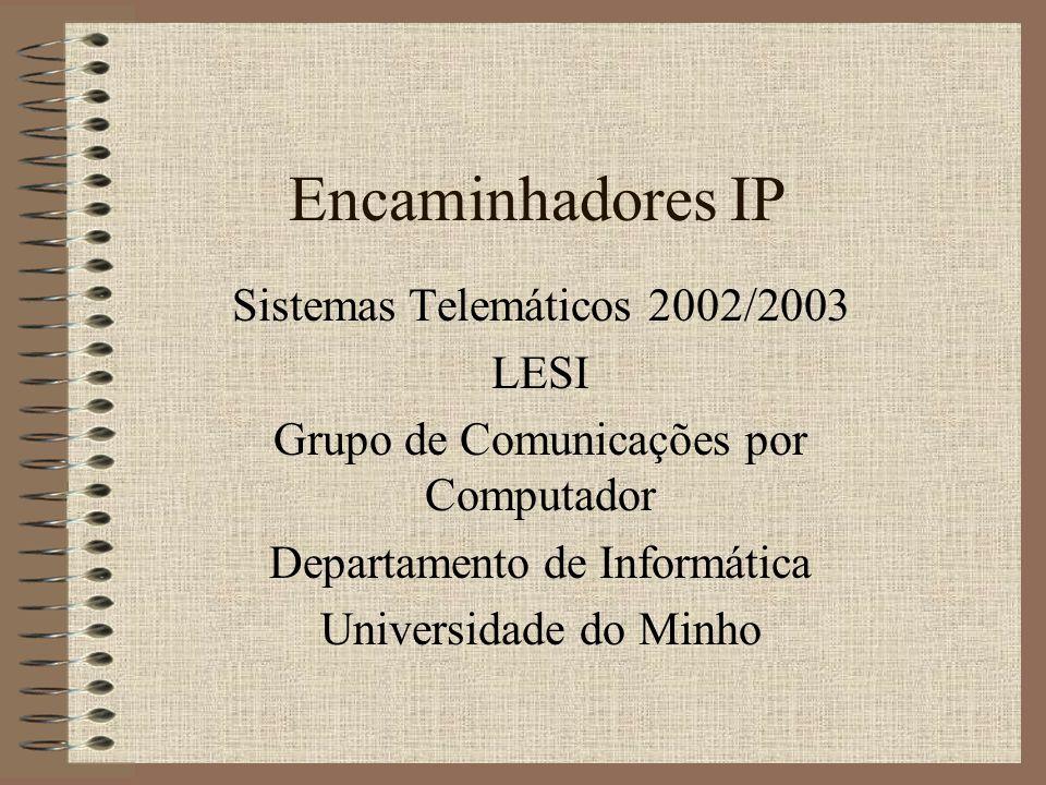 Encaminhadores IP Sistemas Telemáticos 2002/2003 LESI