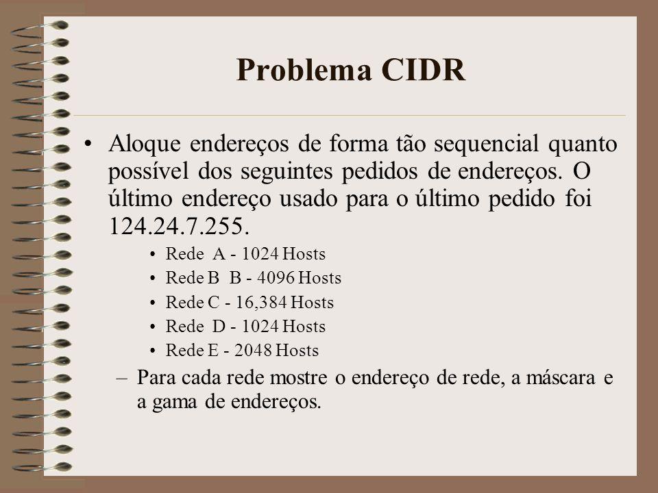Problema CIDR