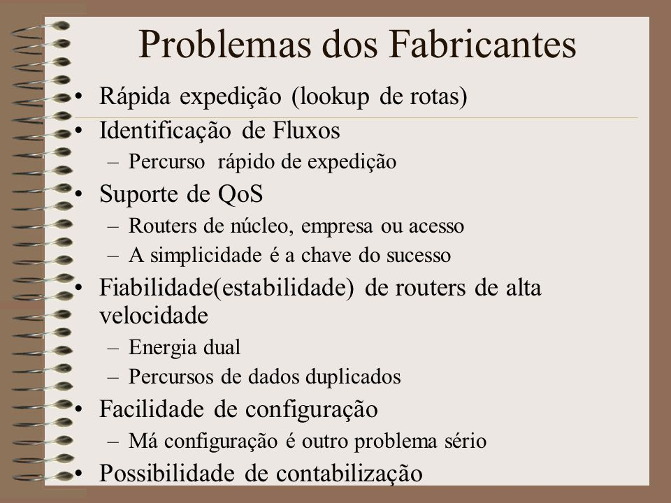 Problemas dos Fabricantes