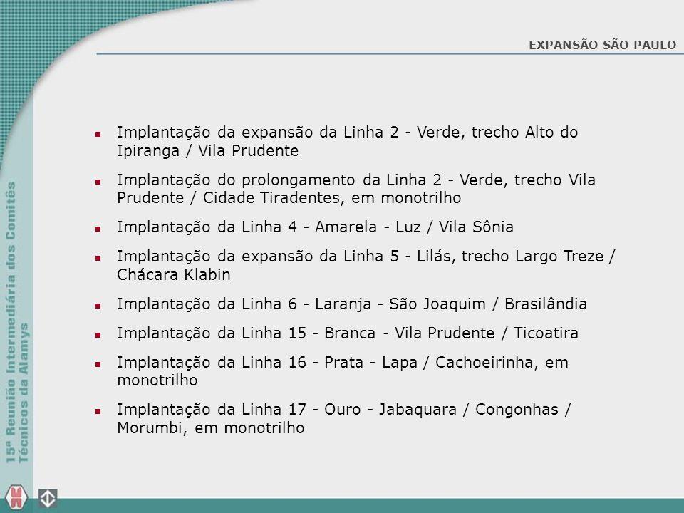 Implantação da Linha 4 - Amarela - Luz / Vila Sônia