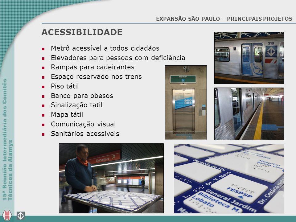 ACESSIBILIDADE Metrô acessível a todos cidadãos