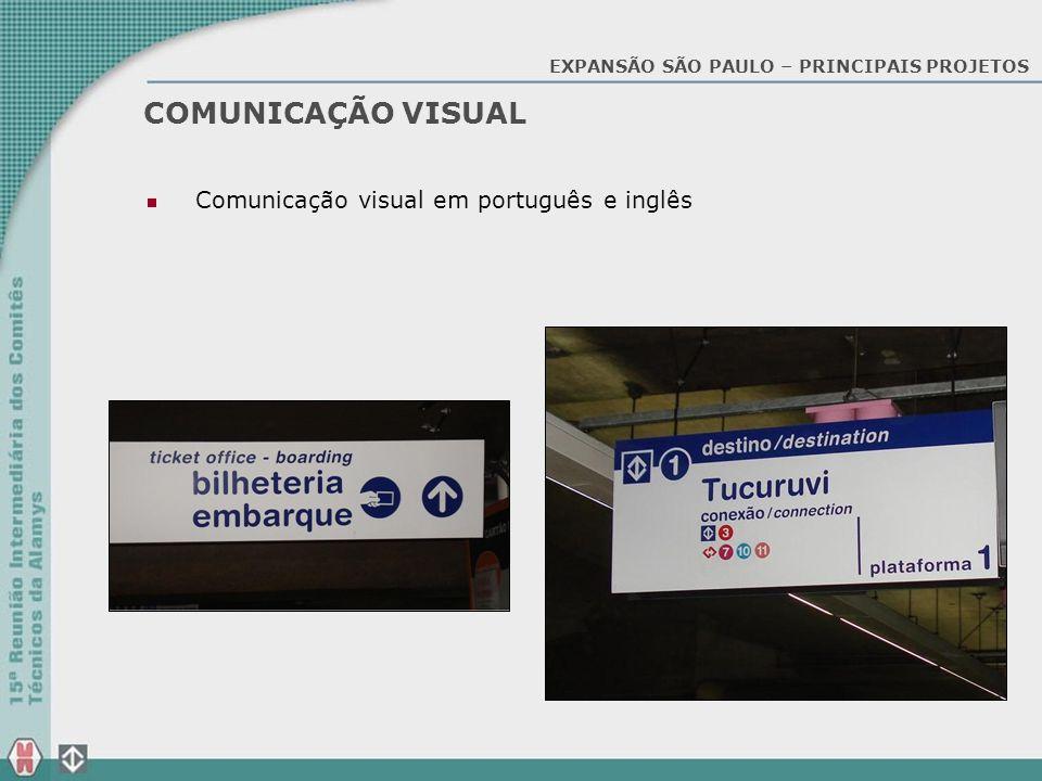 COMUNICAÇÃO VISUAL Comunicação visual em português e inglês