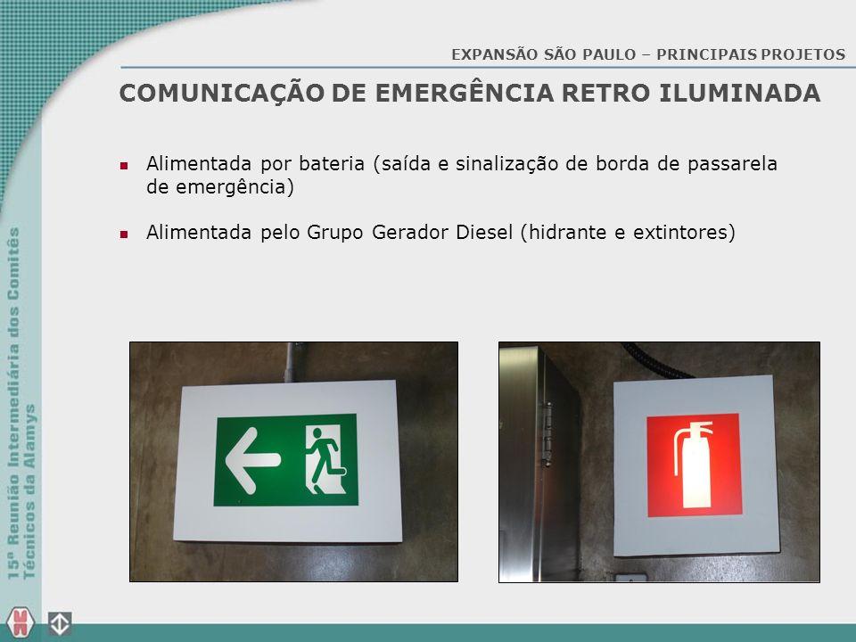 COMUNICAÇÃO DE EMERGÊNCIA RETRO ILUMINADA