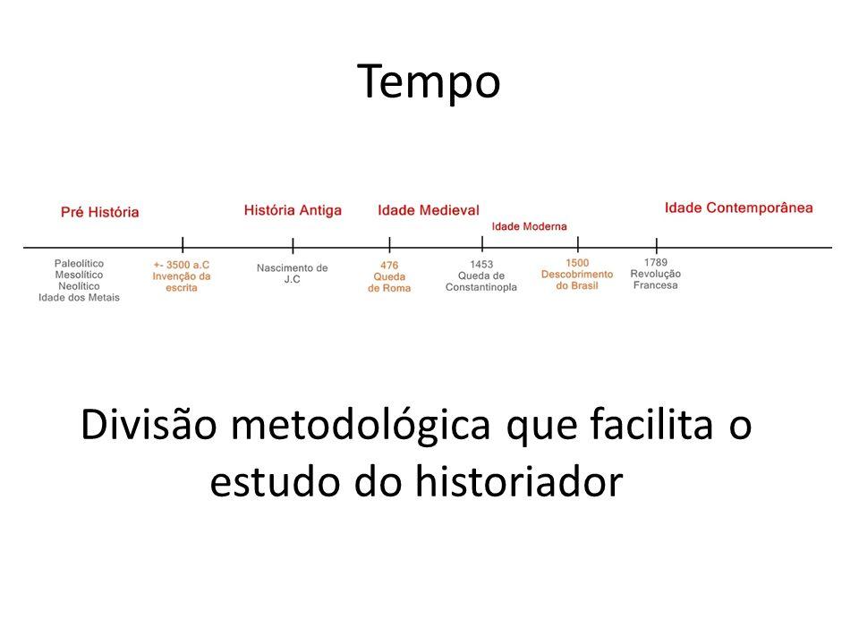 Divisão metodológica que facilita o estudo do historiador